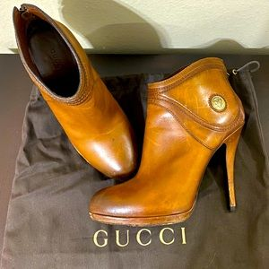 Brown Gucci booties